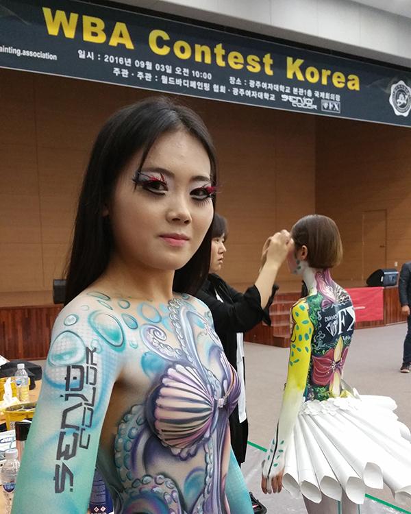 korea bodypainting wba contest