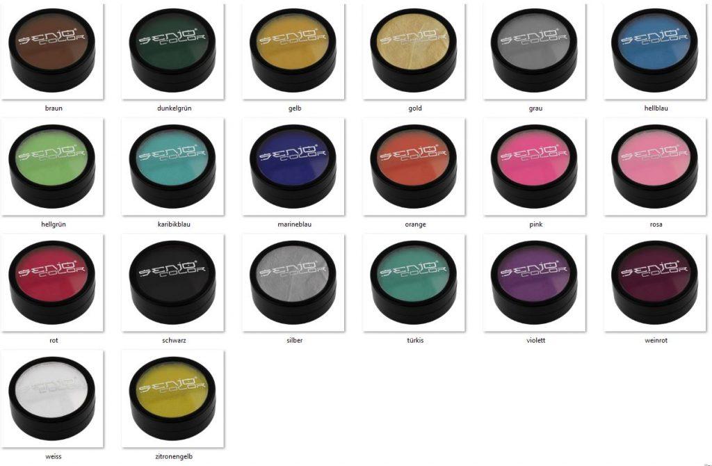 Bodypainting color latas tonos de selección
